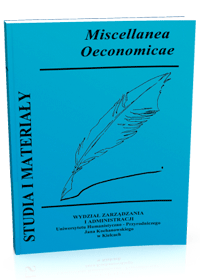 "Studia i Materialy ""Miscellanea Oeconomicae"" 3/2014 - okładka"